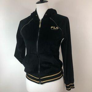 Fila Sport Velour Hoodie Track Jacket